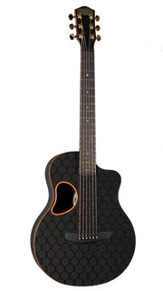McPherson Touring Carbon Fiber Orange Honeycomb Gold Hardware 2020 #10646 - McPherson Guitars - Heartbreaker Guitars