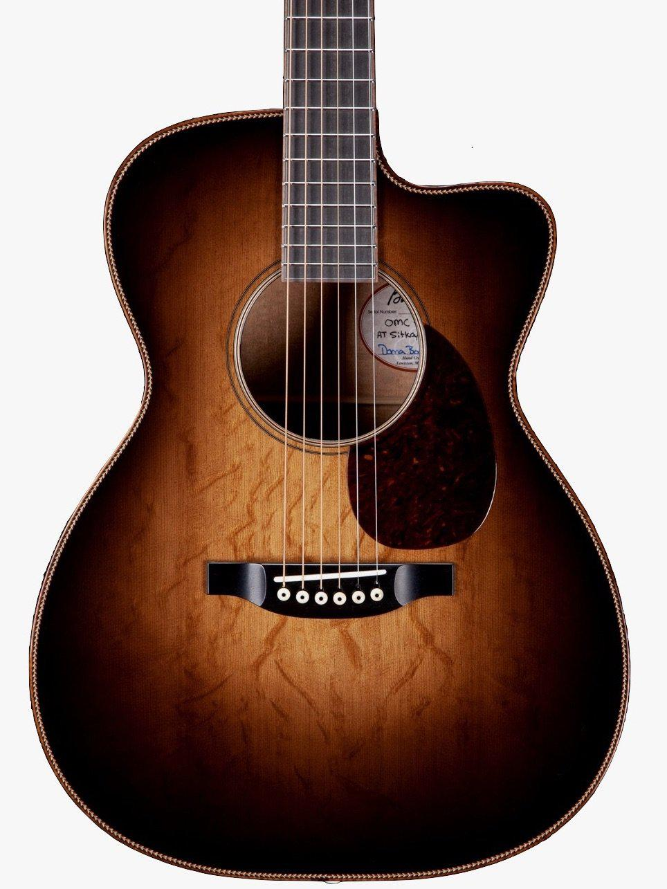 Bourgeois OMC Custom Large Sound Hole Aged Tone Bear Claw over Figured Mahogany #8837 - Bourgeois Guitars - Heartbreaker Guitars