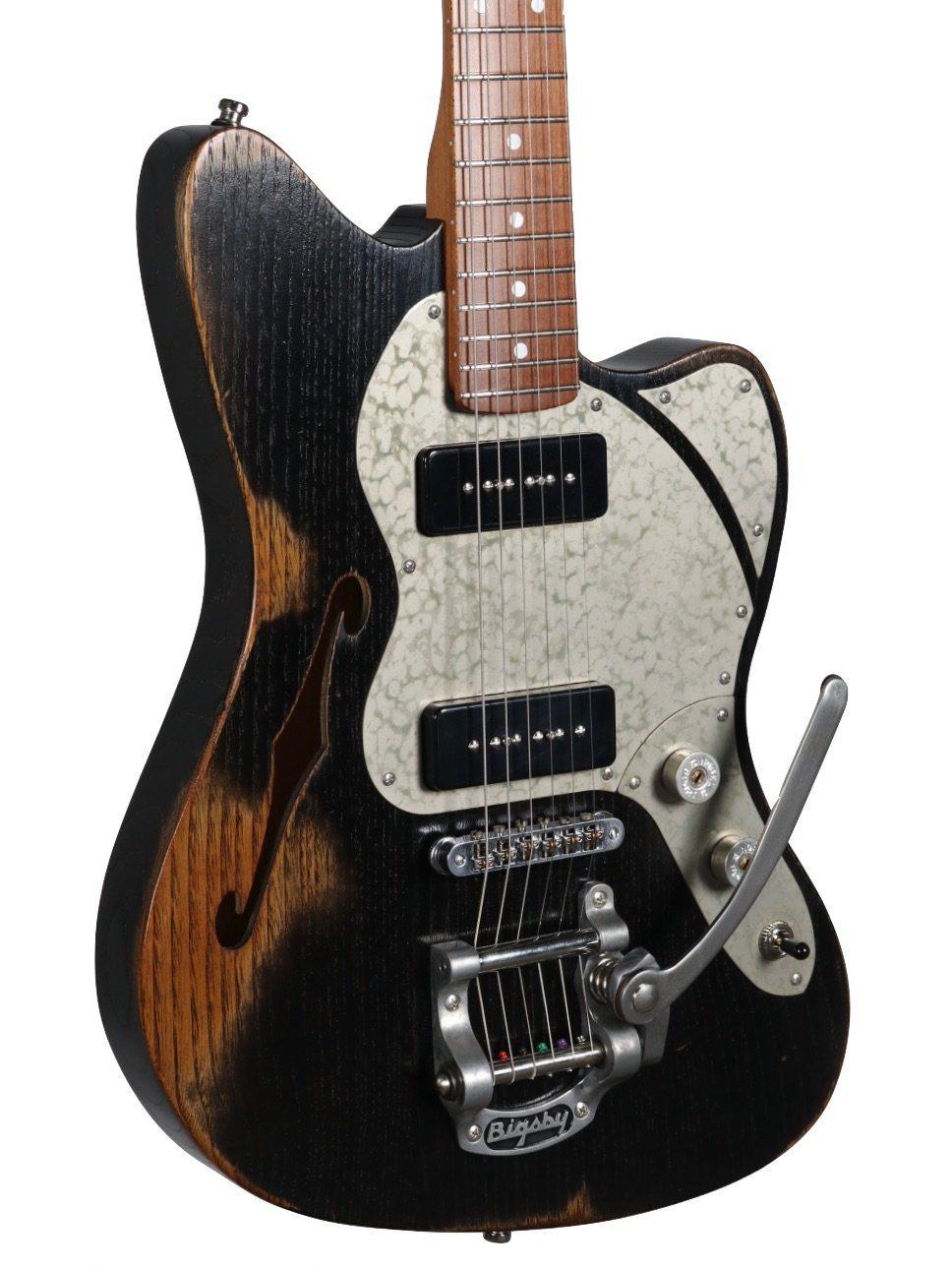 Paoletti Nancy 112 Jazzmaster 2P90 Faded Black  #92520 - Paoletti - Heartbreaker Guitars