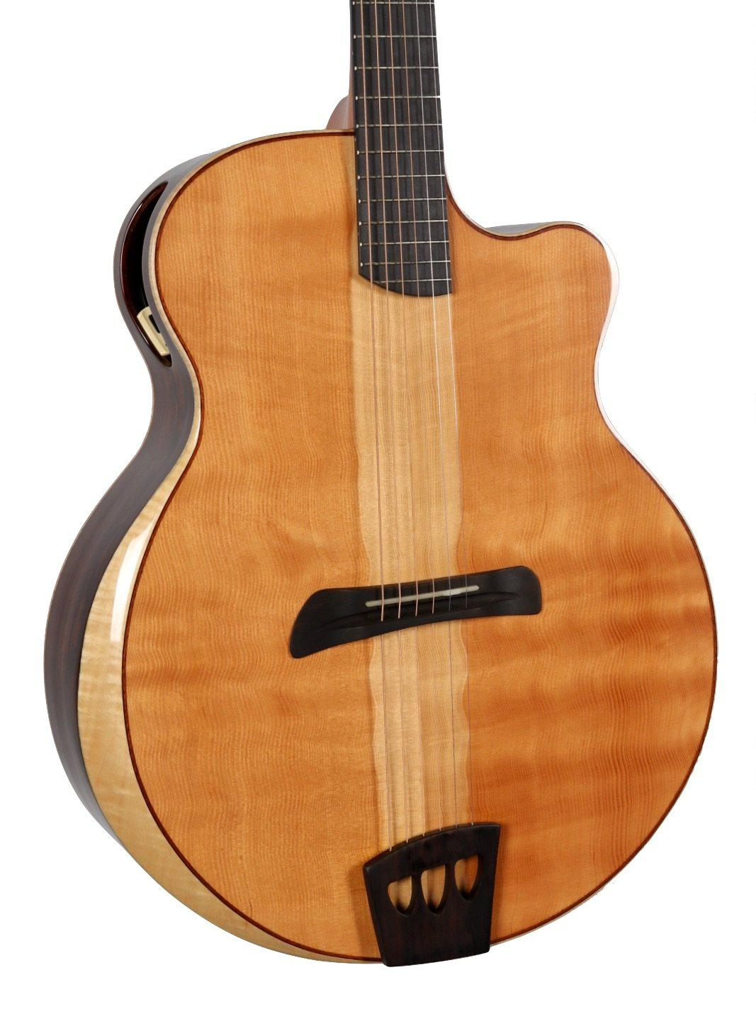 Batson Jumbo Figured Douglas Fir / Cloudy Cocobolo #19210102 - Batson - Heartbreaker Guitars