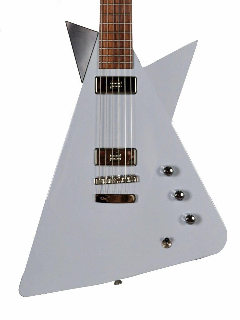 "Bob Robinson Guitars ""The Prophet"" Quartersawn Cherry in Grey #14419 - Bob Robinson - Heartbreaker Guitars"