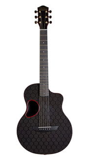 McPherson Carbon Fiber Touring Model HoneyComb Red - McPherson Guitars - Heartbreaker Guitars