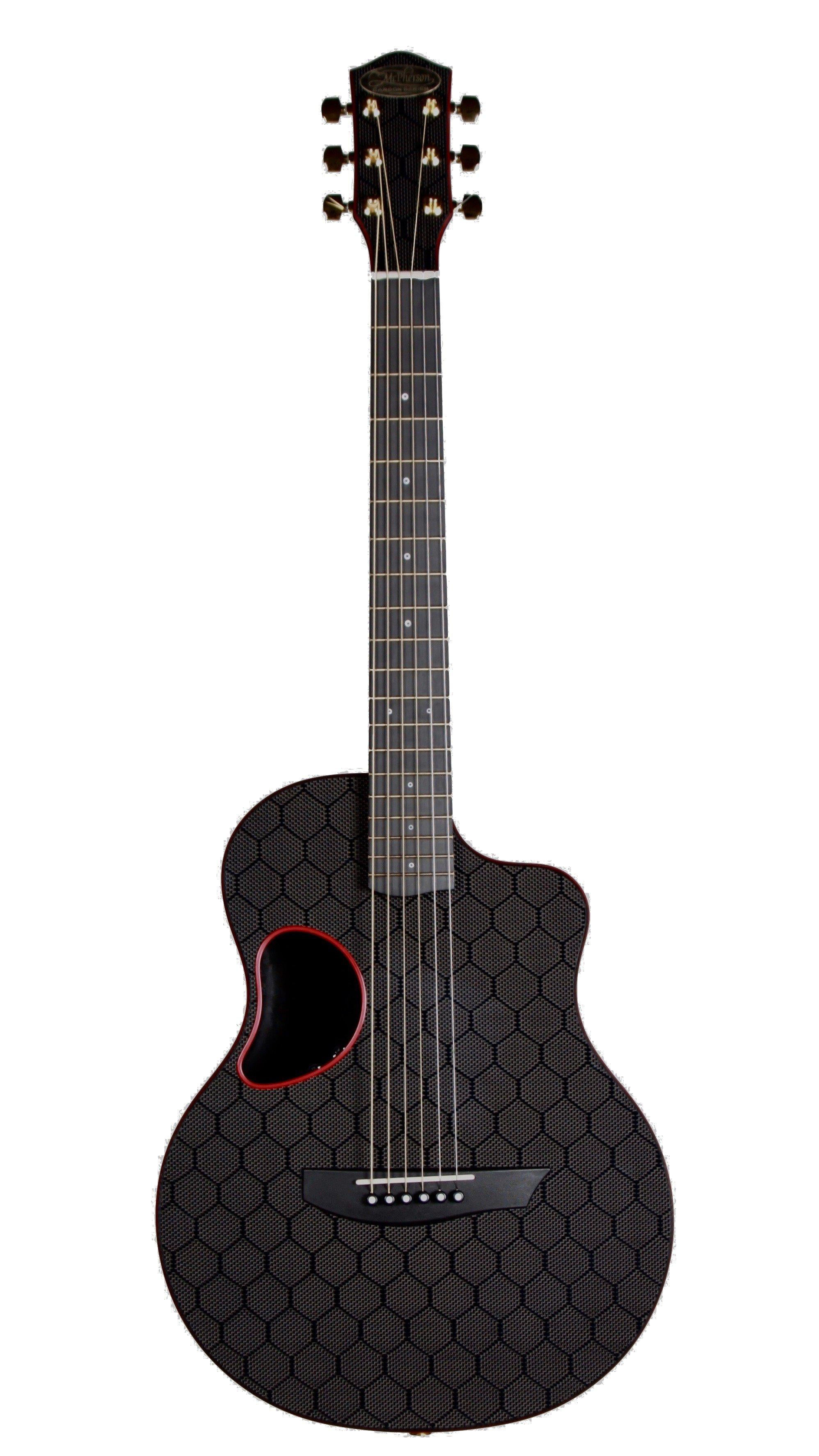 McPherson Touring Carbon Fiber Red Honeycomb with Gold Hardware Red #10649 - McPherson Guitars - Heartbreaker Guitars