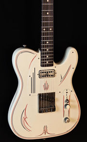 James Trussart Steelcaster  Cream w/ Red Pinstripe - James Trussart Custom Guitars - Heartbreaker Guitars