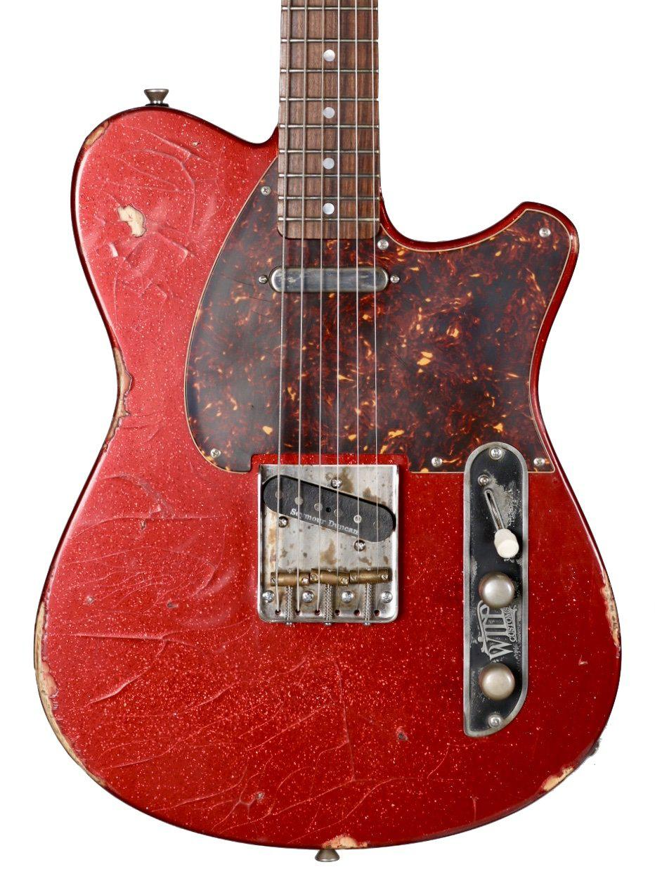 Wild Custom Guitars Wild TV Red Flake Relic #180817 - Wild Custom & Sauvage - Heartbreaker Guitars