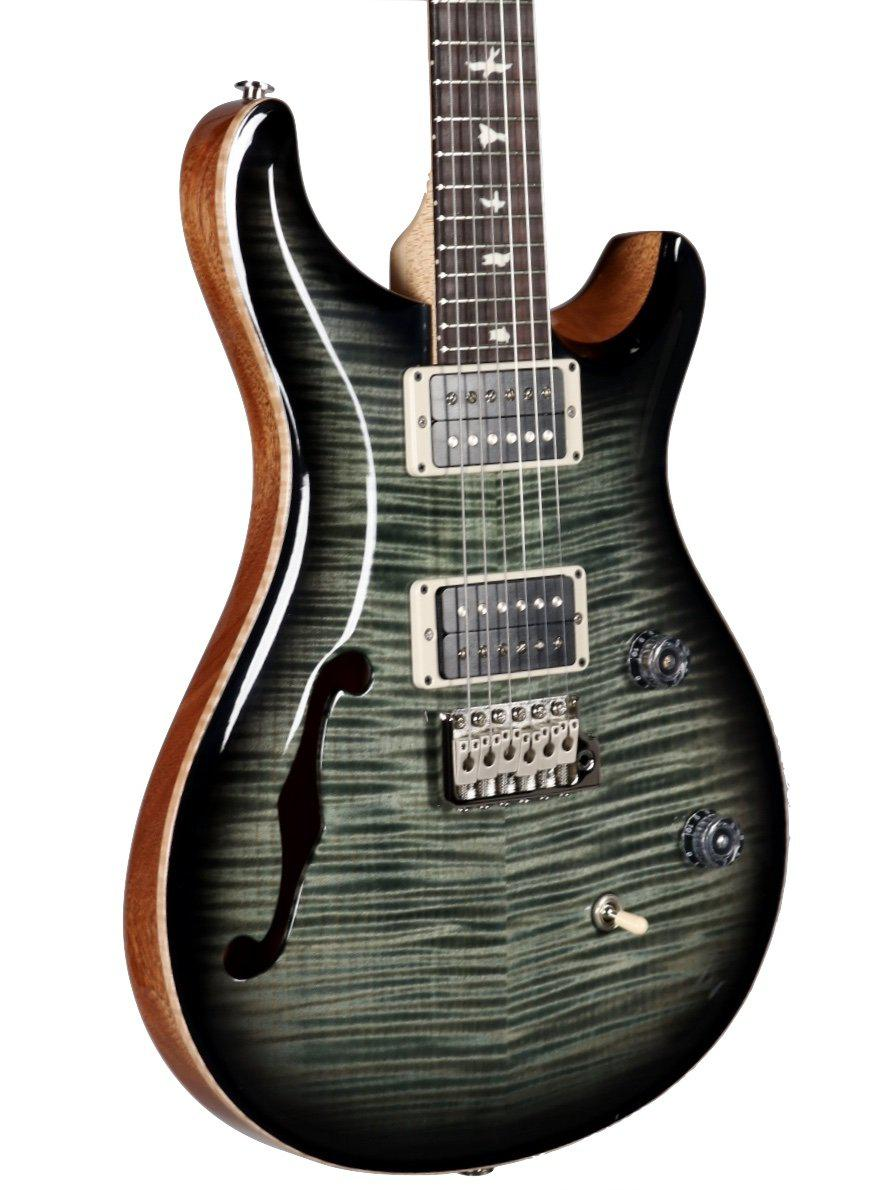 PRS CE 24 Semi-Hollow Trampas Green Smoke Burst Pattern Thin Carve #303505 - Paul Reed Smith Guitars - Heartbreaker Guitars
