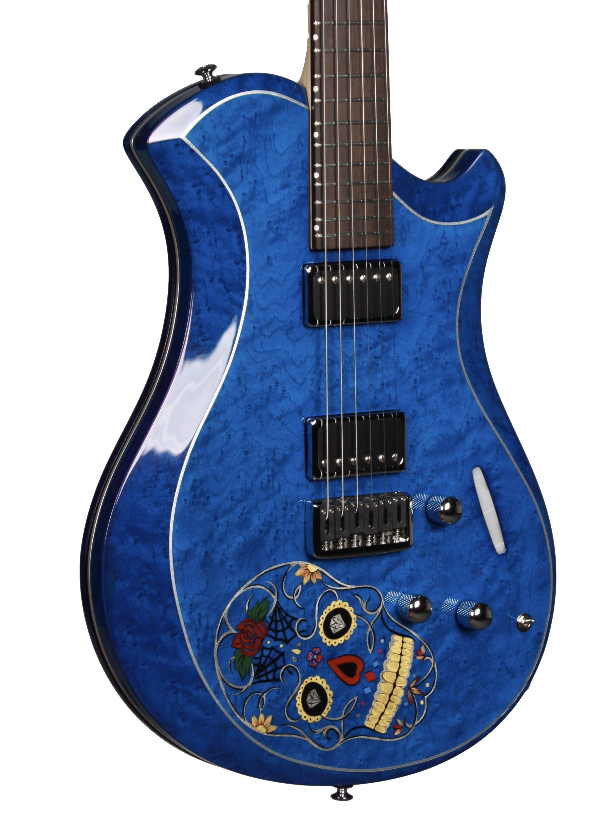 Relish Guitars Sugar Skull Ocean Platinum - Relish Guitars - Heartbreaker Guitars