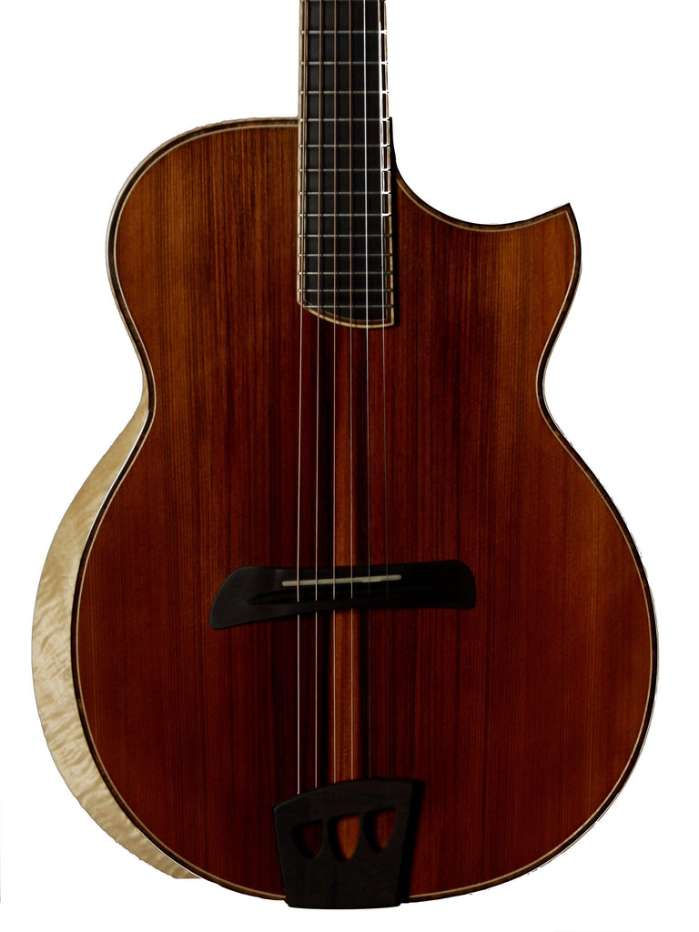 Batson Auditorium Figured Bastogne Walnut - Batson - Heartbreaker Guitars