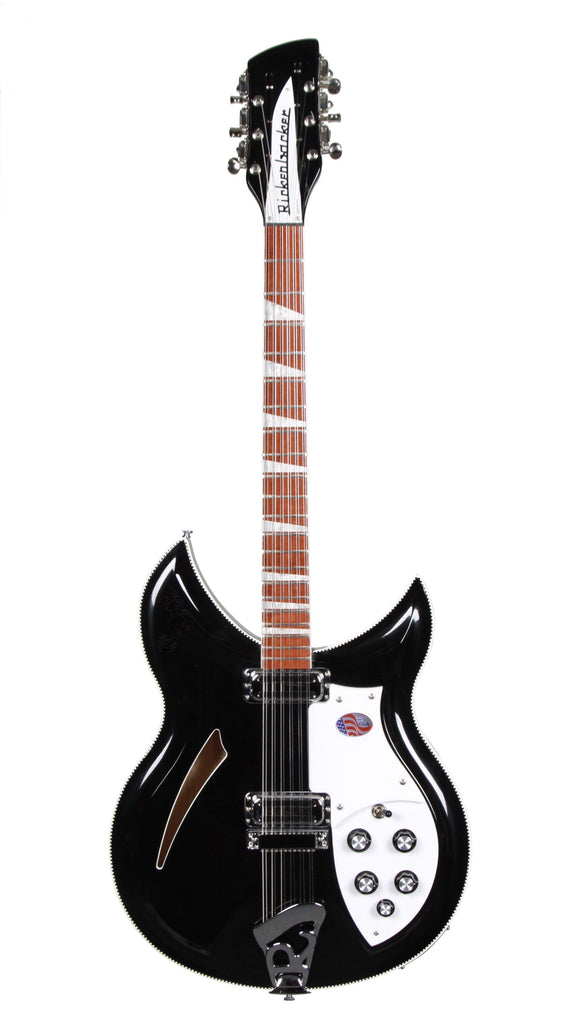 Rickenbacker 381v12  Black 12 String (Mint Condition) - Heartbreaker Guitars - Heartbreaker Guitars