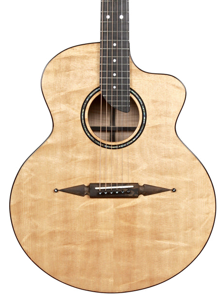 Rick Turner Compass Rose Acoustic Bear Claw Sitka over Flamed Maple with Pick Up - Rick Turner Guitars - Heartbreaker Guitars