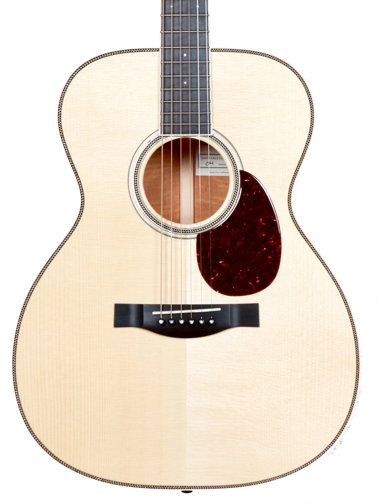 Santa Cruz OM Custom Figured Fiddleback Mahogany Adirondack - Santa Cruz Guitar Company - Heartbreaker Guitars