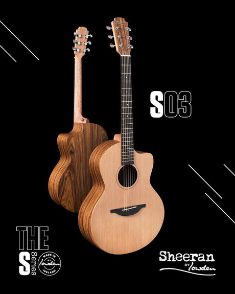 Lowden Sheeran S3 Cutaway Model with Bevel and Pick Up (Pre-Order) - Lowden Guitars - Heartbreaker Guitars