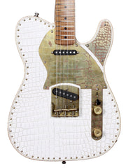 Paoletti Guitars Nancy White Leather Top - Paoletti - Heartbreaker Guitars
