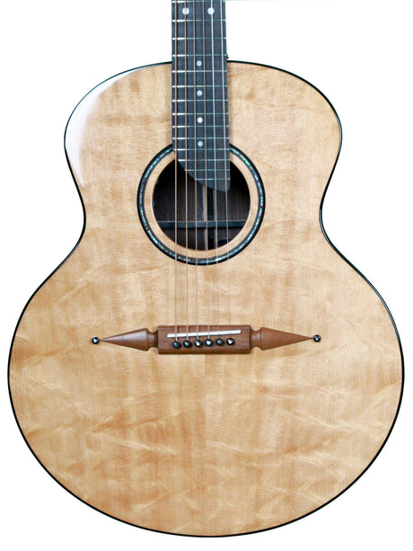 Rick Turner Compass Rose Acoustic Guitar Bear Claw Sitka - Rick Turner Guitars - Heartbreaker Guitars