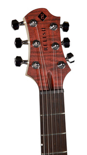 Relish Flamed Bordeaux with Piezo and Pick Up Swapping - Relish Guitars - Heartbreaker Guitars
