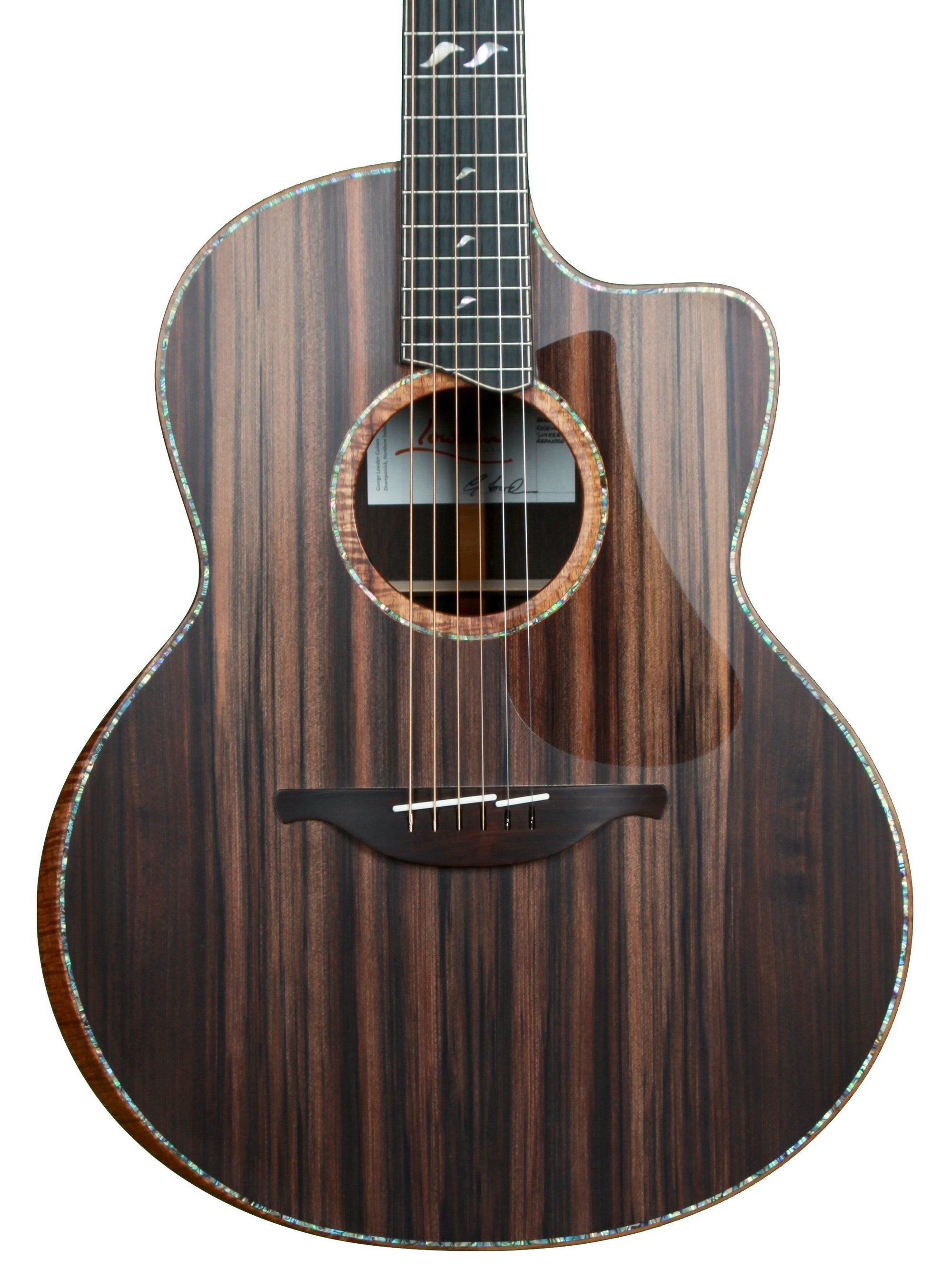 Lowden F50c Brazilian Rosewood Sinker Redwood with Bevel, 38 and GL Leaf Inlay - Heartbreaker Guitars - Heartbreaker Guitars