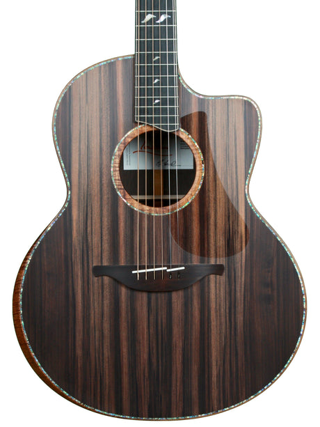 Lowden F50c Brazilian Rosewood Sinker Redwood with Bevel, 38 and GL Leaf Inlay - Lowden Guitars - Heartbreaker Guitars