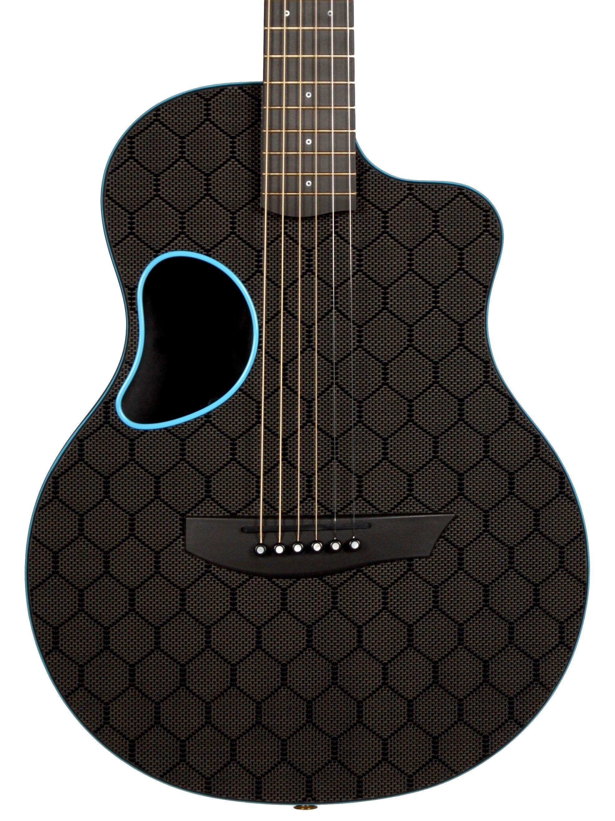 McPherson Touring Carbon Fiber Blue Honeycomb with Gold Hardware #10640 - McPherson Guitars - Heartbreaker Guitars