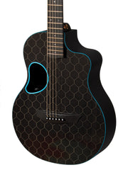 McPherson Touring Carbon Fiber Blue Accents Honeycomb Finish - McPherson Guitars - Heartbreaker Guitars
