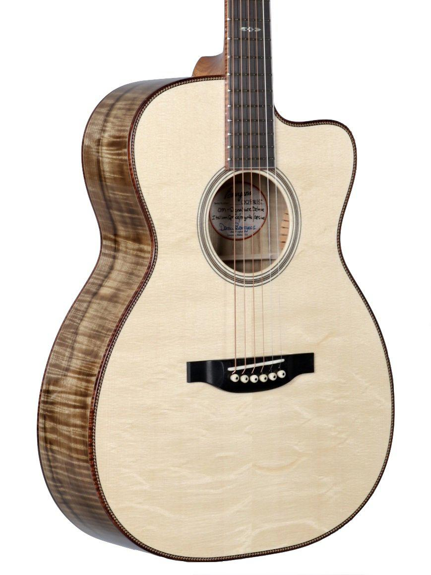 Bourgeois OMC Custom Bear Claw Spruce over Figured Myrtle - Bourgeois Guitars - Heartbreaker Guitars