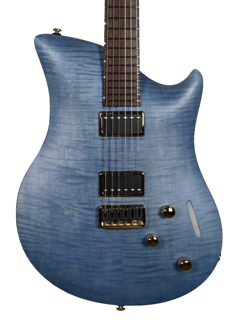Relish Flamed Blue Jane with Pick up Swapping Gold Hardware #200004 - Relish Guitars - Heartbreaker Guitars