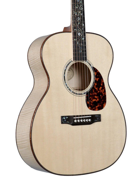 Larrivee OM-09 Alpine Moon Spruce over Flamed Maple w/ Twins & Vine Inlays - Larrivee Guitars - Heartbreaker Guitars