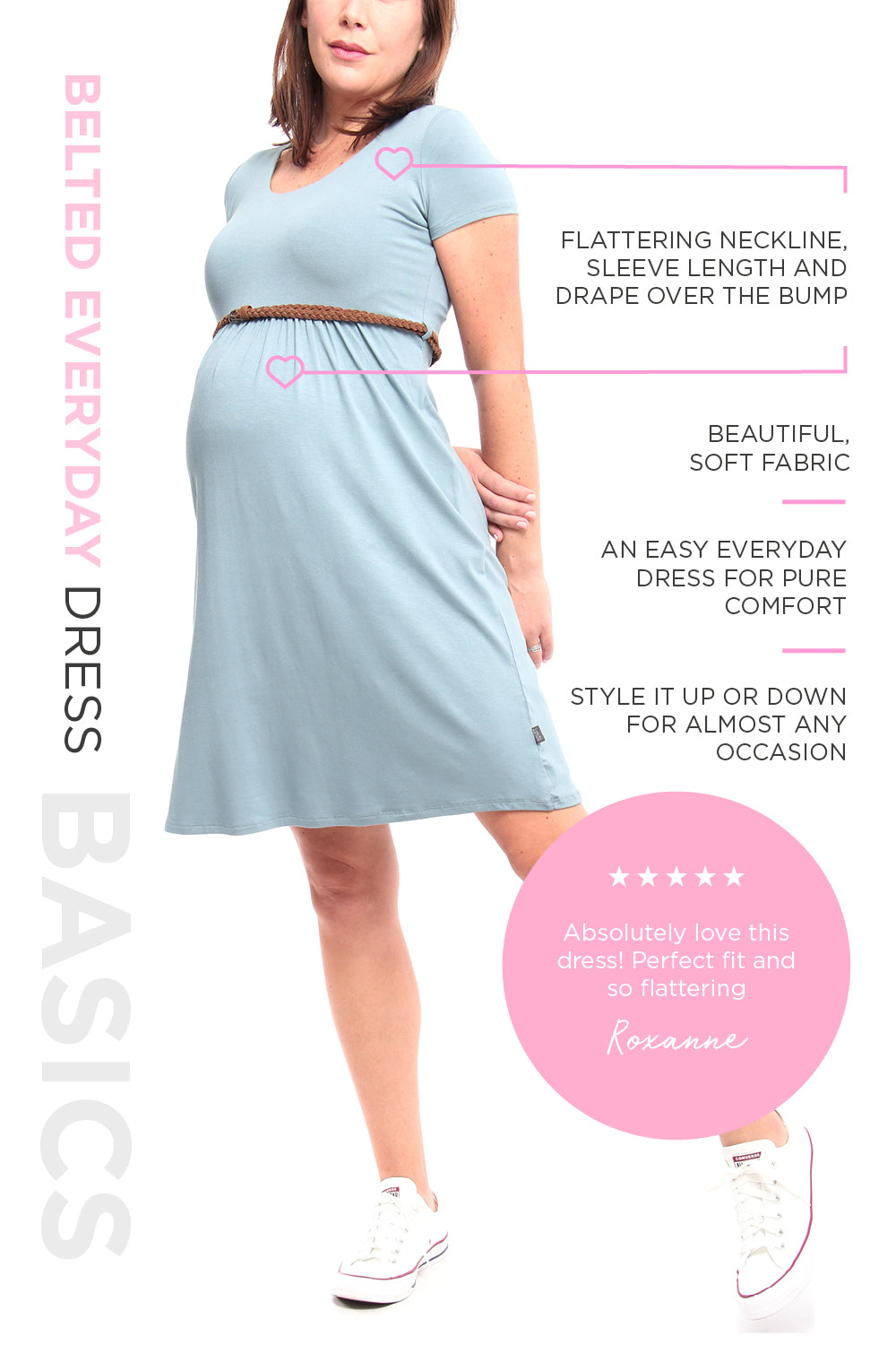 Maternity Solutions Belted Everyday Dress