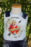 """Heart Warrior"" Grow + Go Romper - Tinker Tyke Threads"