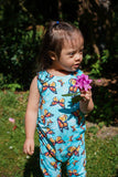 Blue Butterfly Grow + Go Romper - Tinker Tyke Threads