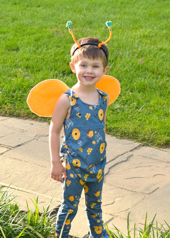 Blue Bee Grow + Go Romper - Tinker Tyke Threads