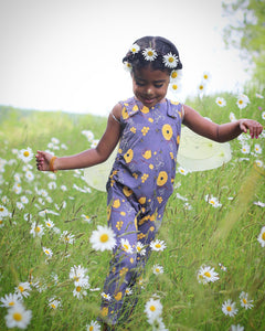 Purple Bee Grow + Go Romper - Tinker Tyke Threads