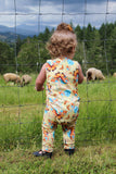 Yellow Butterfly Grow + Go Romper - Tinker Tyke Threads