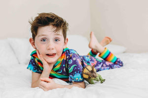 Space Dinos Grow + Go Romper - Tinker Tyke Threads
