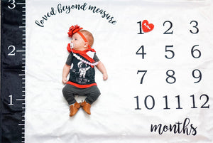 """Loved Beyond Measure"" Milestones Blanket - Tinker Tyke Threads"