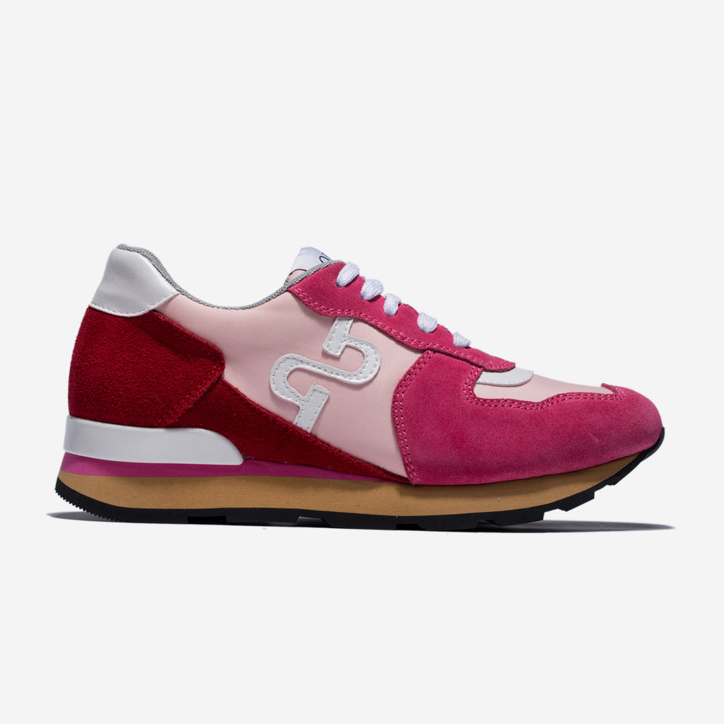 WOMEN LACE-UP SUEDE SNEAKERS ROSE - Top Women Sneakers - OPP Official Store (OPP France)
