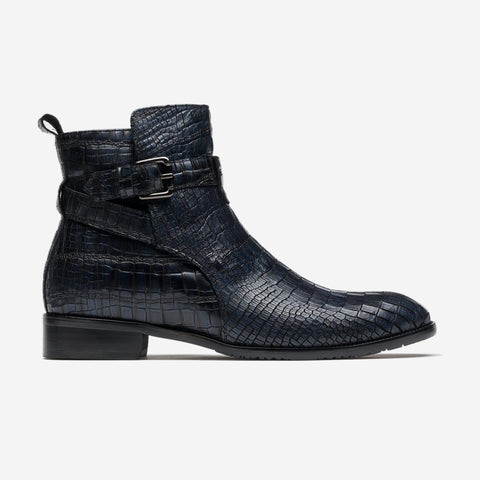 MEN ANKLE BOOTS BLACK/BLUE