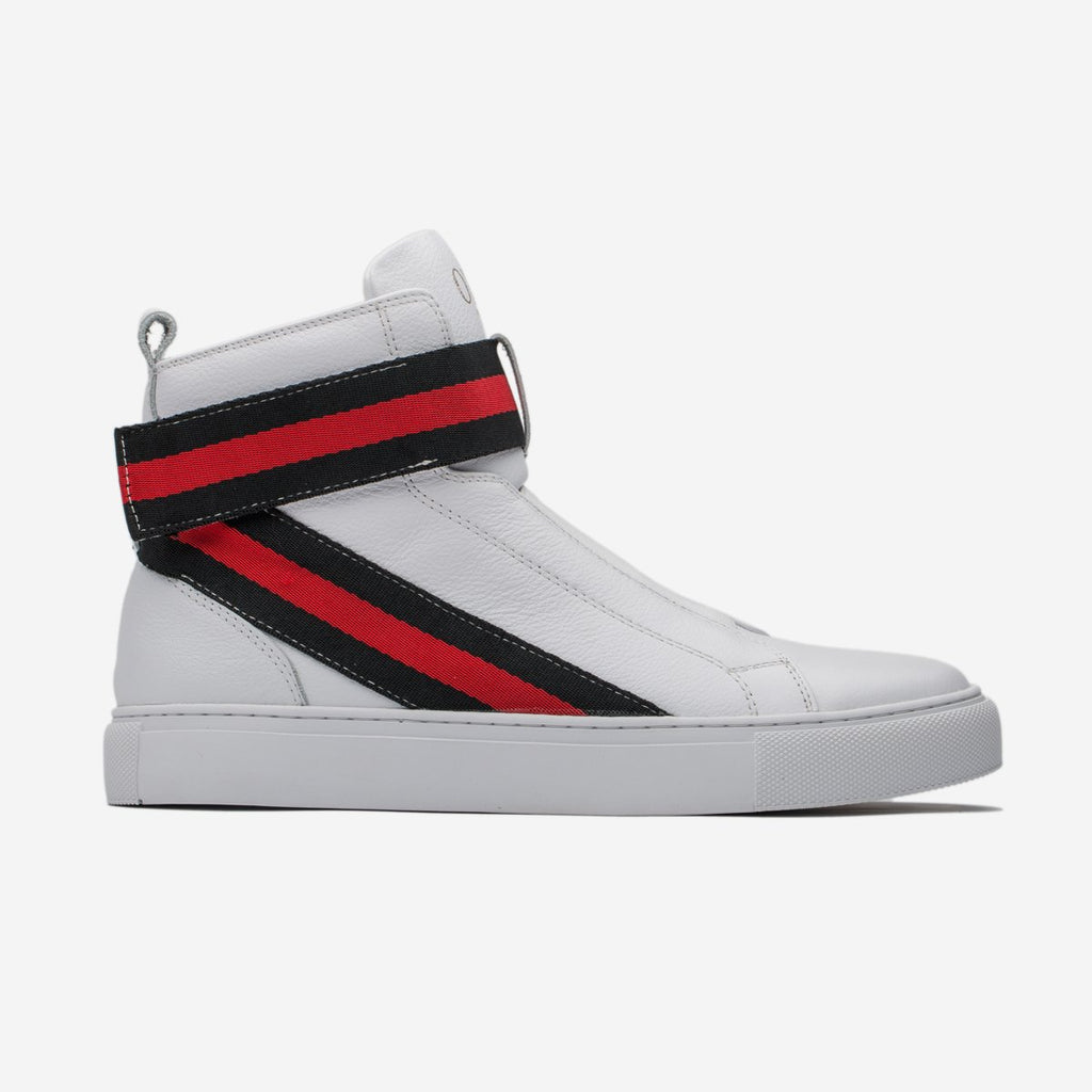MEN HIGH-TOP SHOES WHITE