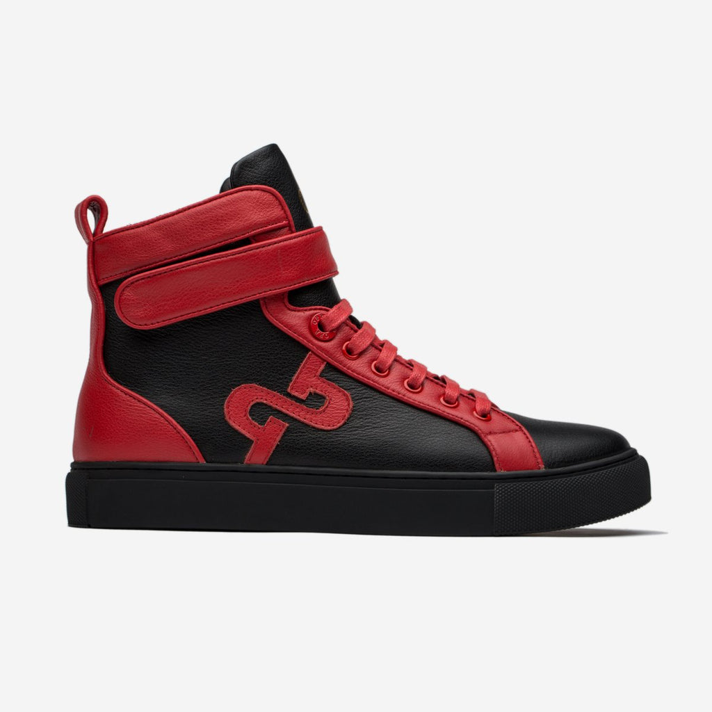 MEN HIGH-TOP SHOES BLACK/RED