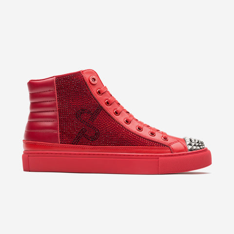 High Top Lace-Up Shoes Red - Top High-top Shoes - OPP Official Store (OPP France)