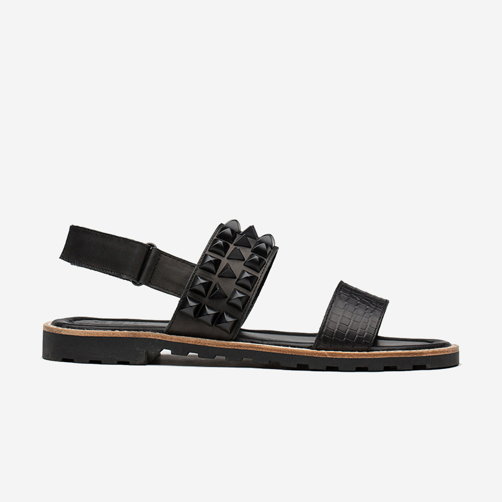 RIVETS SANDAL BLACK - Top Sandal - OPP Official Store (OPP France)