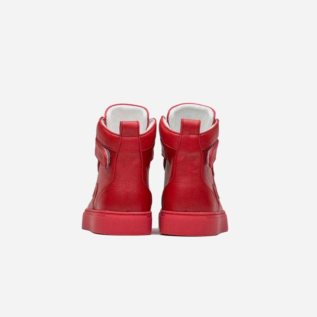 MEN HIGH-TOP SHOES RED