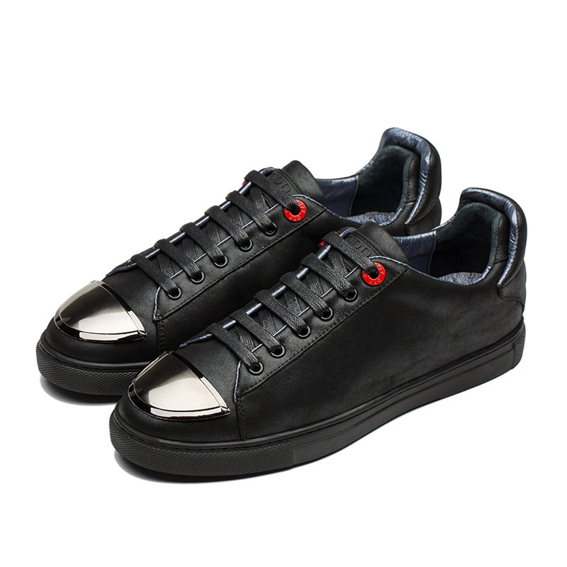 CASUAL SHOES LEATHER BLACK - Top Casual Shoes - OPP Official Store (OPP France)