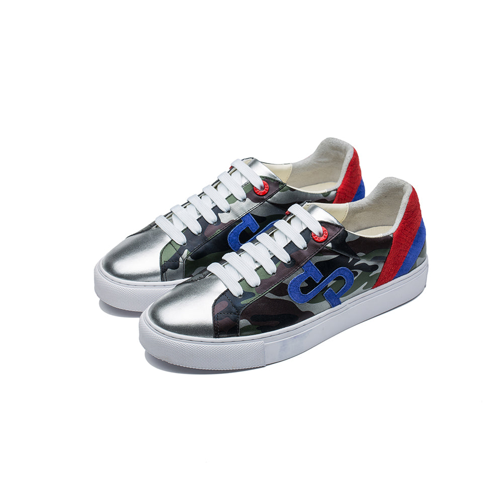 CASUAL LACE-UP SHOES SILVER