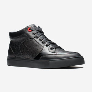 HIGH TOP LACE-UP BLACK - Top High-top Shoes - OPP Official Store (OPP France)