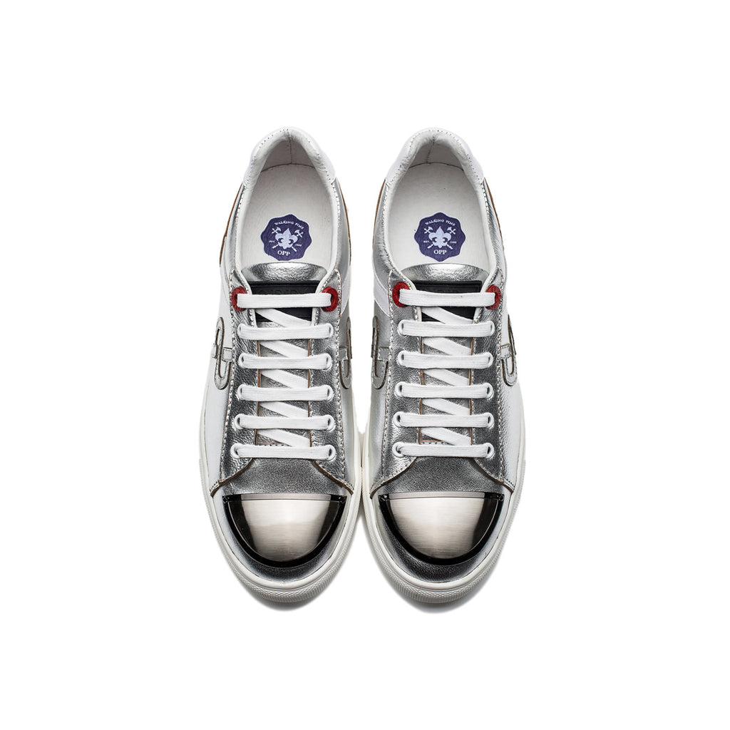 SUEDE CASUAL SHOES SILVER - Top Casual Shoes - OPP Official Store (OPP France)