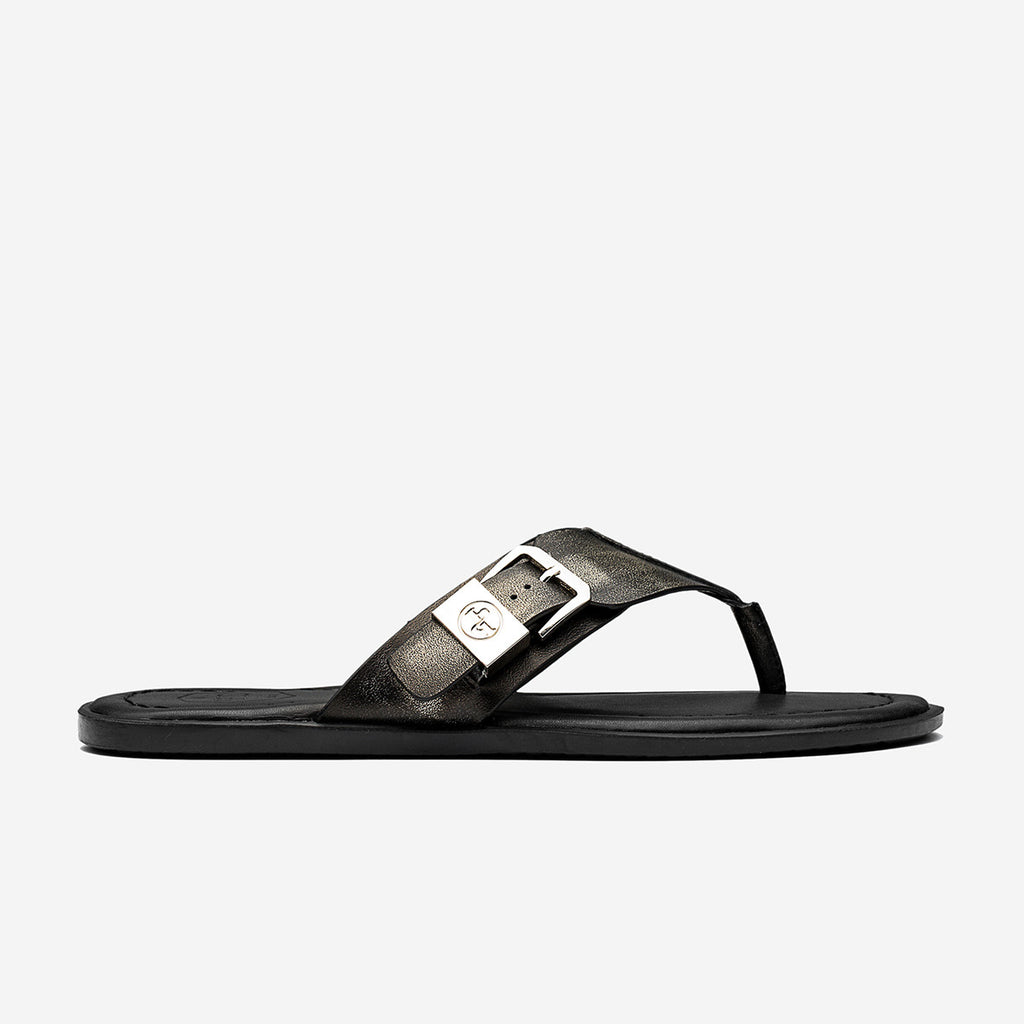 LEATHER SANDAL BRONZE - Top Sandal - OPP Official Store (OPP France)