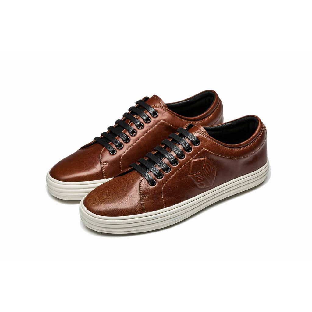 CASUAL LACE-UP SHOES BROWN - Top Casual Shoes - OPP Official Store (OPP France)