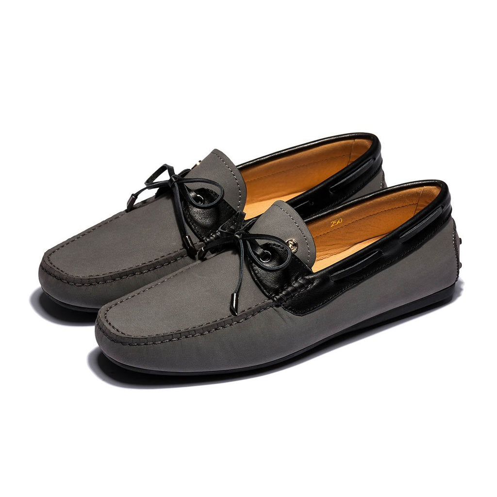 SUEDE BRUSHED LOAFERS GREY - Top Loafers Shoes - OPP Official Store (OPP France)