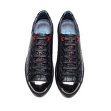 METAL LACE-UP SHOE BLACK SILVER - Top Casual Shoes - OPP Official Store (OPP France)