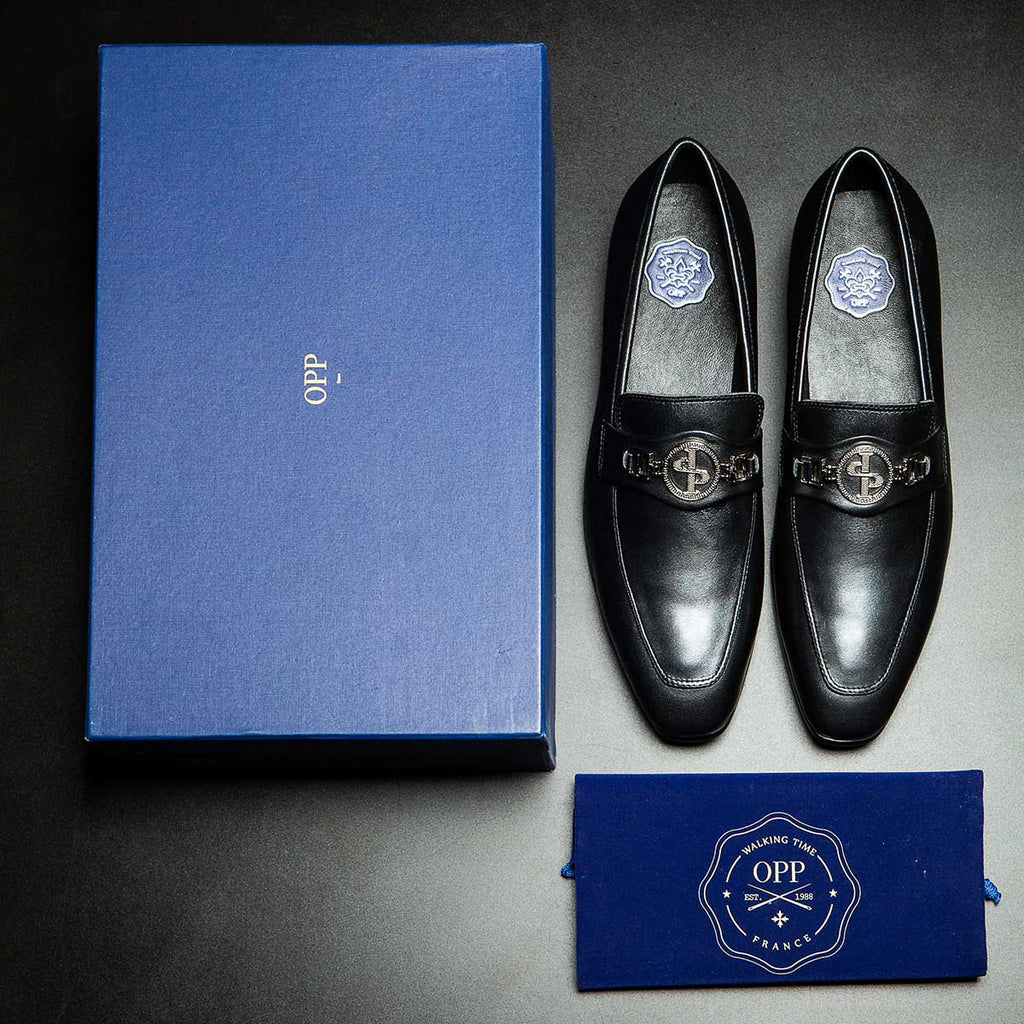 DRESS SHOES SILVER GREY - Top Dress Shoes - OPP Official Store (OPP France)